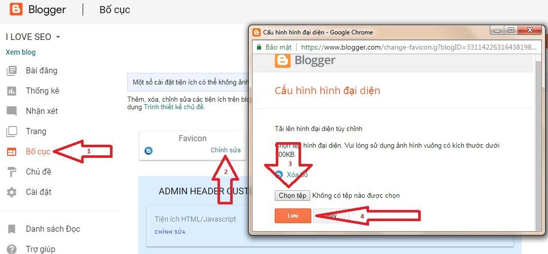 Cấu hình đại diện blogger