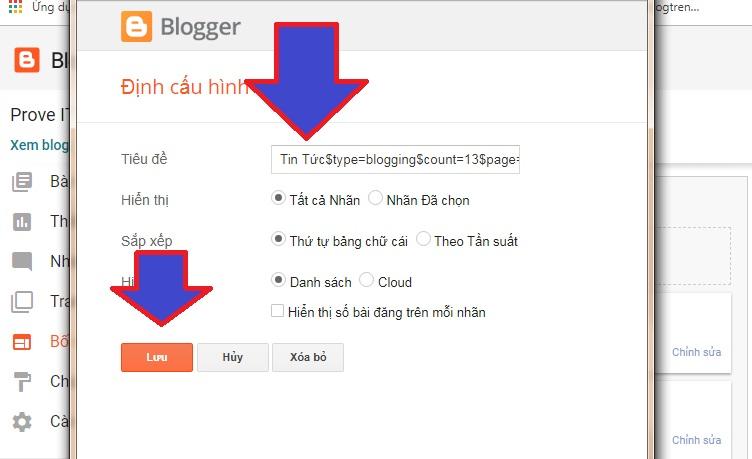 Sửa blogging