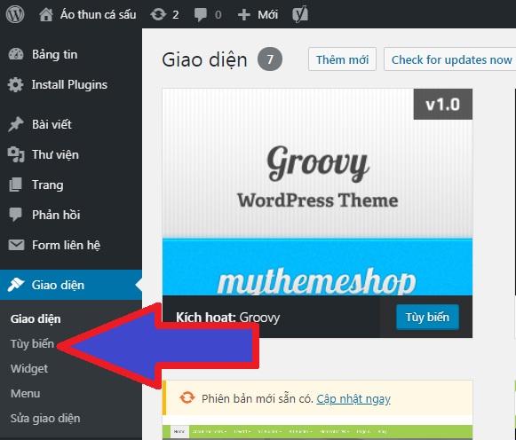 Tùy biến WordPress
