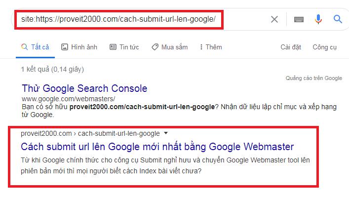 cách index website lên google