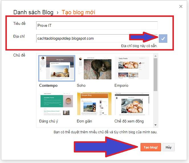 cách tạo 1 blog miễn phí