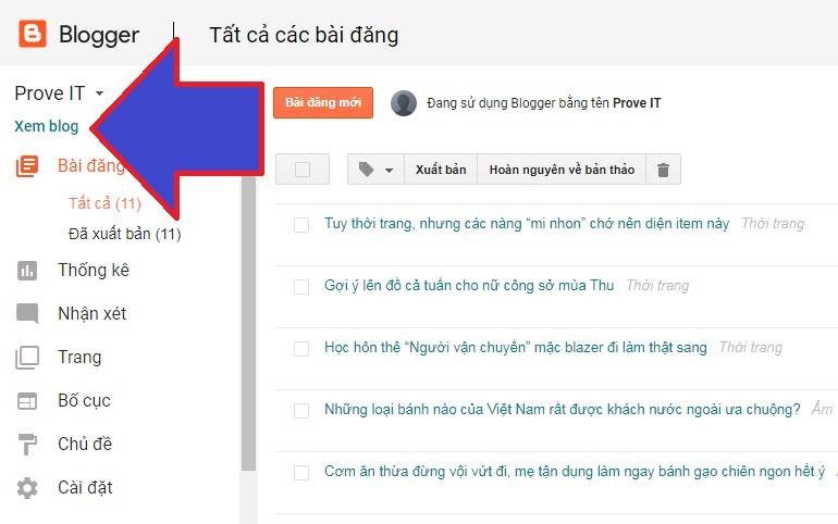 cách tạo một blog cá nhân miễn phí