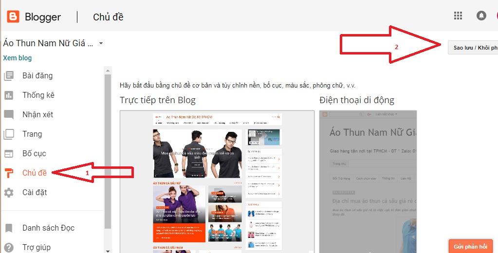cách thay đổi template cho blogger
