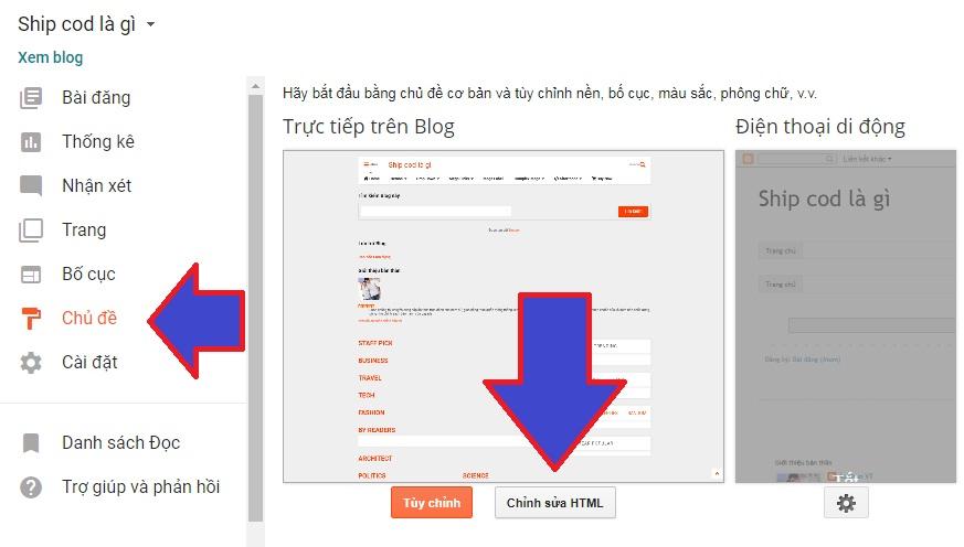 hướng dẫn tạo menu đa cấp trong blogspot