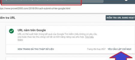 khai báo link với google