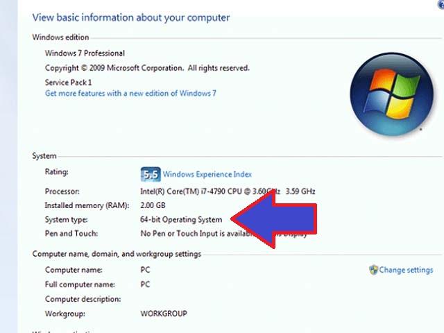 Làm sao để biết máy tính bao nhiêu bit