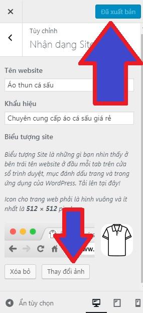 thay đổi favicon trong wordpress