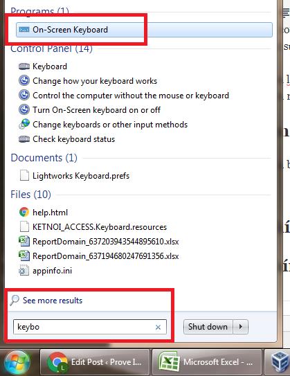 cách bật bàn phím ảo trên laptop