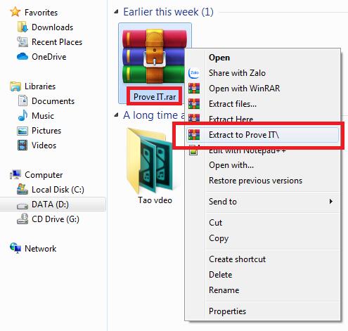 cách mở file rar trên máy tính
