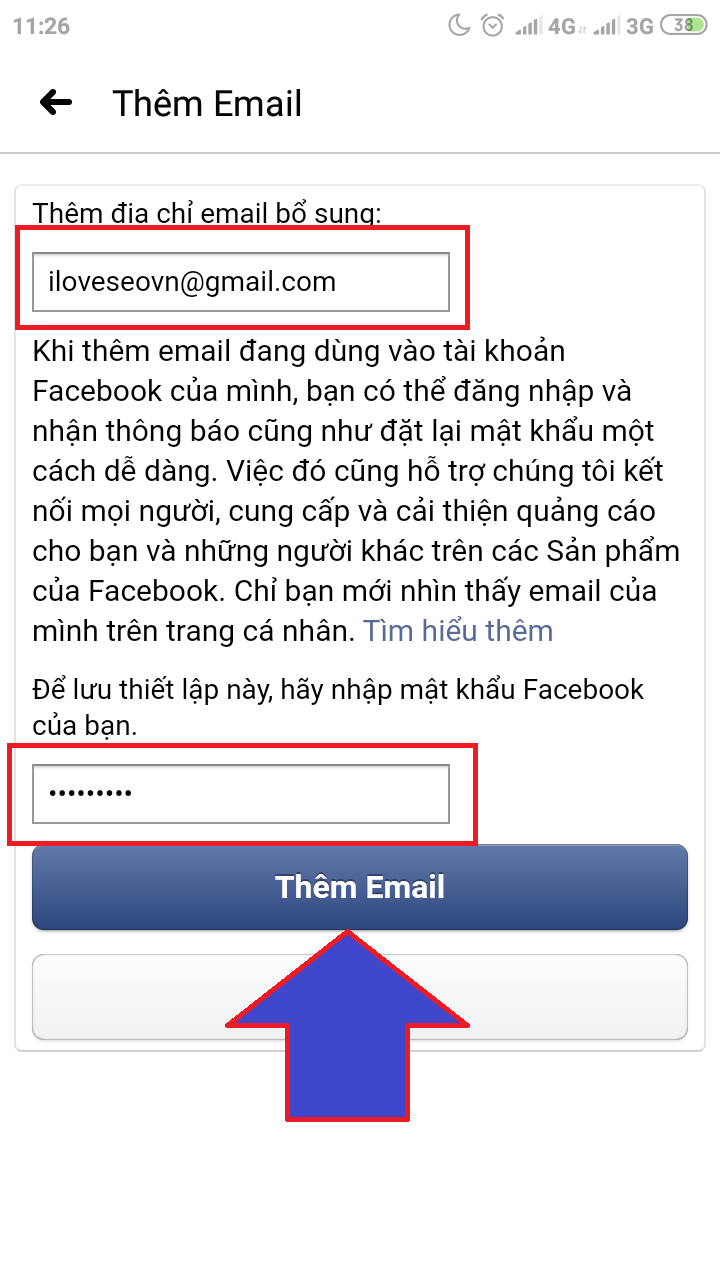 tao email cho facebook