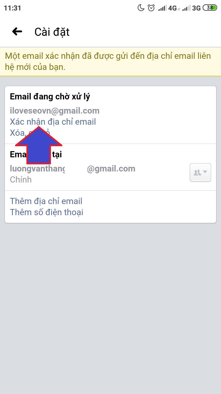 tao dia chi email tren facebook