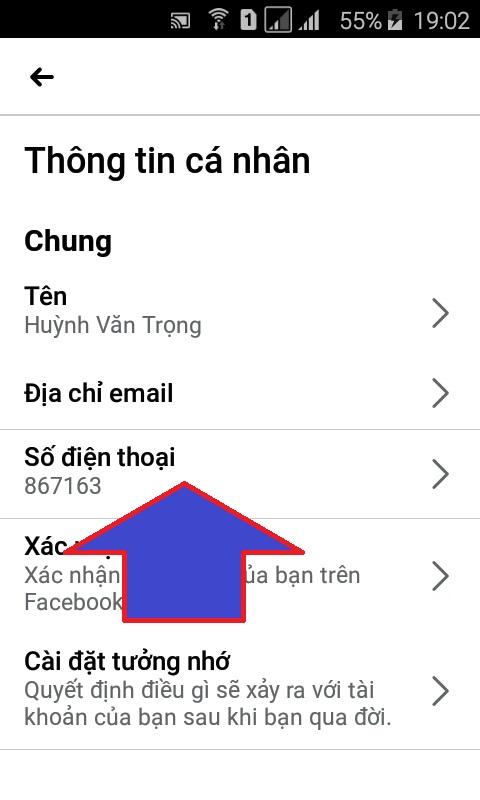 cách xóa số điện thoại trên fb