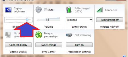 cài đặt độ sáng màn hình laptop