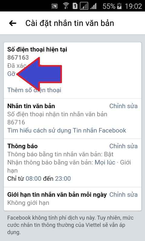 cập nhật số điện thoại trên facebook
