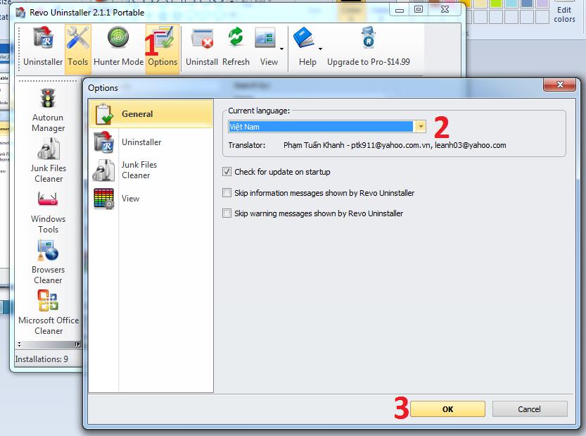 phần mềm revo uninstaller tiếng việt