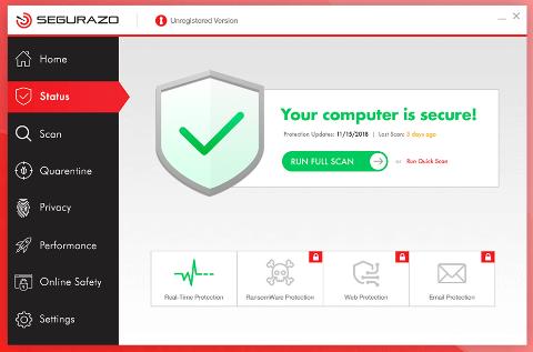 segurazo virus