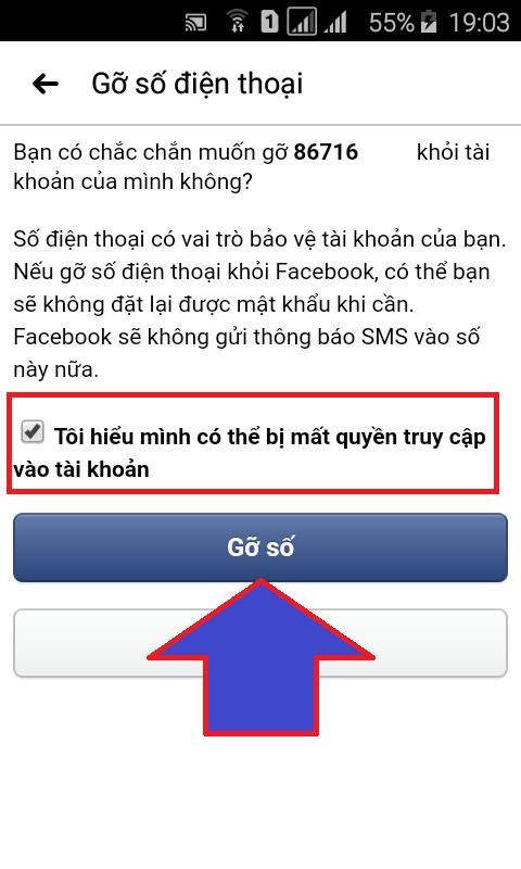 thay đổi số điện thoại đăng nhập facebook