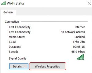 Wifi trên Win 10