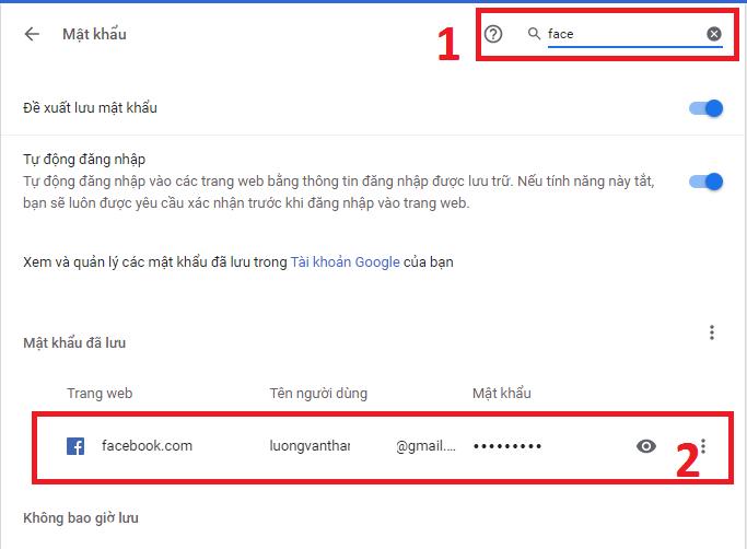 Tìm Pass Facebook