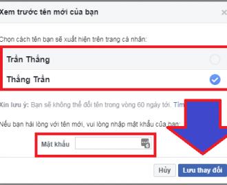 cách đổi tên người dùng trên facebook