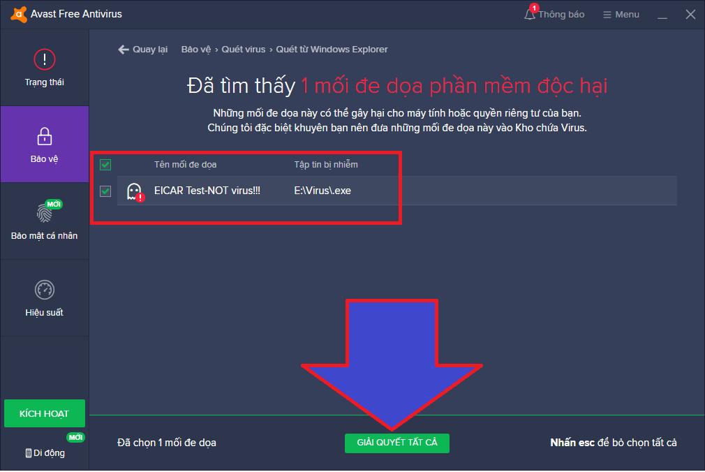 cách dùng avast antivirus