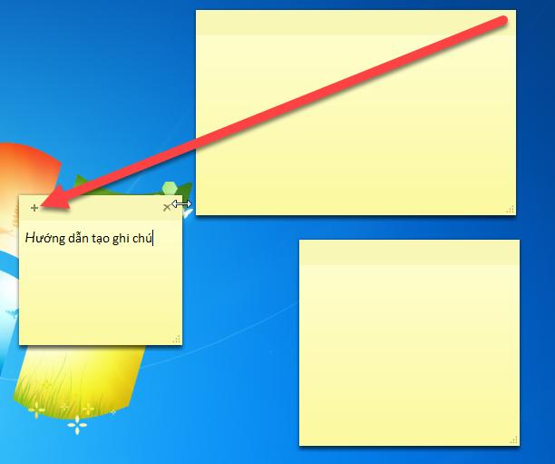 cách tạo note trên desktop
