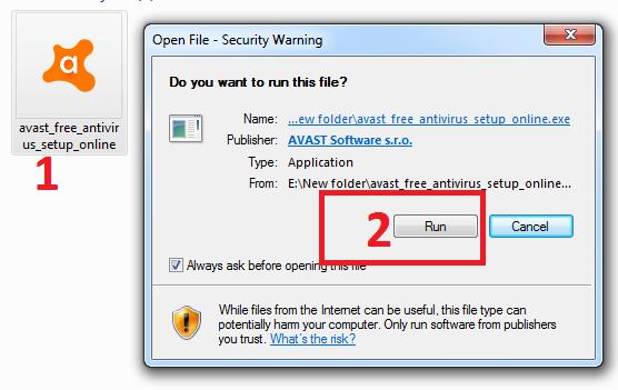 cài đặt phần mềm diệt virus avast miễn phí