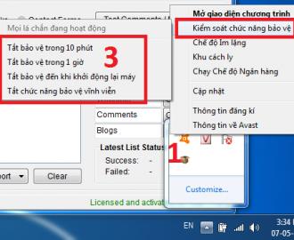 hướng dẫn tắt avast free antivirus