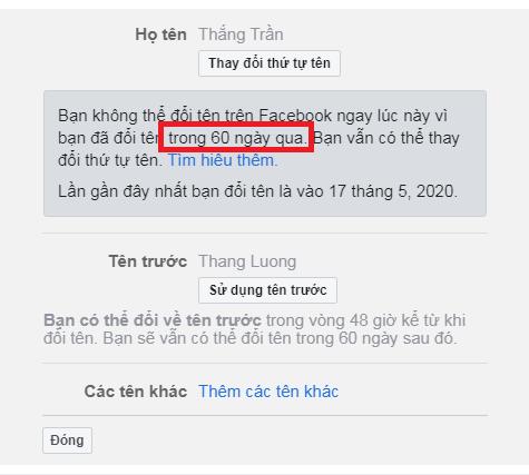 làm cách nào để đổi tên facebook