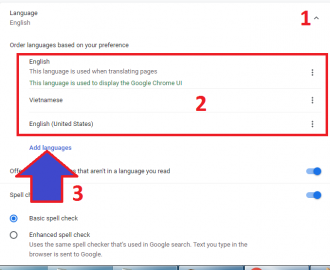 sửa ngôn ngữ google chrome