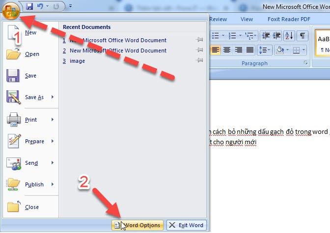 cách xóa gạch đỏ trong word 2010
