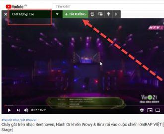 tải video youtube không cần phần mềm