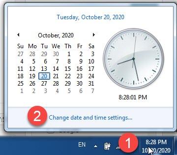 đổi định dạng ngày tháng trong win 7