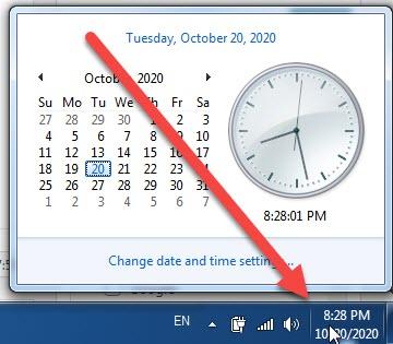 cách cài đặt giờ trên máy tính