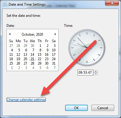 cách chỉnh ngày giờ trên máy tính win7