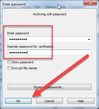 tạo pass cho file
