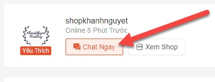 Chat shopee